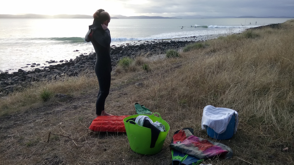 Your surfmat can be rolled up or folded to about the size of a laptop taking up very little room in a bag or backpack. It is the ultimate wave riding craft for travelling.