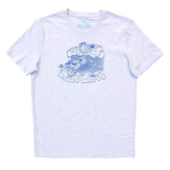 Warpmats Surfmats Shorebreak Freaks T-Shirt Cream Heather Front Print SFTS01