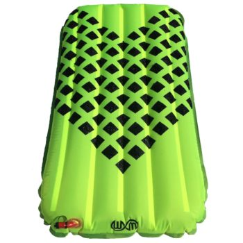 Warpmats GP surf mat lime with black check grip
